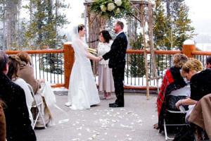 Wedding ceremony at Blue Sky Breckenridge.