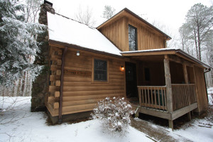 Chalet exterior view at Old Man's Cave Chalets.