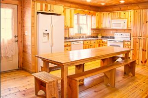 Cabin kitchen at ACE Adventure Resort.