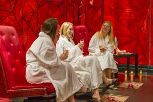 Relaxing at the spa at Crystal Springs Resort.