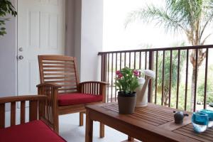 Rental porch at Orlando Luxury Escapes Vacation Rentals.