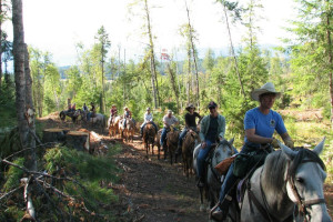 Horseback riding at Western Pleasure Guest Ranch.