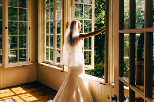Bride at Cortland Alumni House.