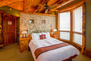 Guest room at Chipeta Solar Springs Resort.