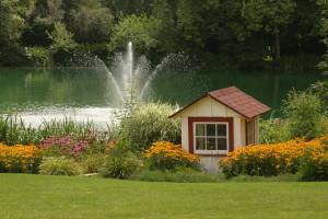Fountain at Heartland Spa & Fitness Resort.