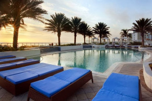 Outdoor pool at Hilton Fort Lauderdale Beach Resort.
