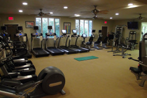 Fitness room at High Hampton Inn.