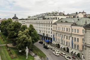 Exterior view of Hotel Bayerischen Hof.