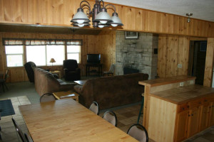 Group lodge at Ten Mile Lake Resort.