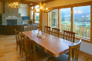 Dining area at Bridger Vista Lodge.