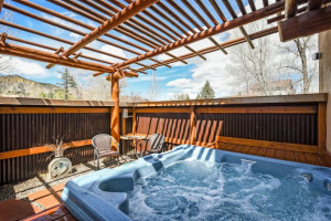 Hot tub at Chipeta Solar Springs Resort.