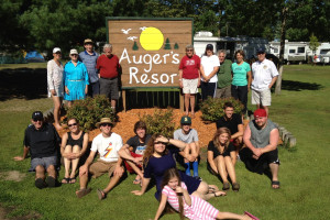 Family reunions at Auger's Pine View Resort.