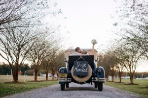 Wedding couple at Buckhead Ranch.