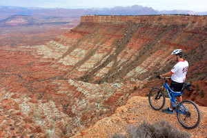 Mountain biking at Zion Ponderosa Ranch.
