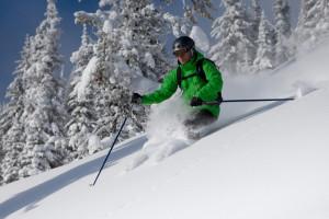 Skiing at Aspen Mountain Lodge.