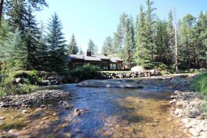 Cabin Exterior at Boulder Brook on Fall River