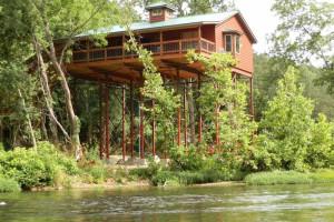 Tree house exterior at River of Life Farm.