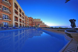 Outdoor pool at L-Imgarr Hotel Gozo.