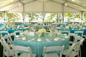 Outdoor wedding reception at Doral Arrowwood.