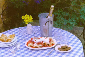 Champagne breakfast at  Fredericksburg Ranch.
