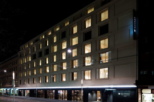 Exterior view of Hotel Pullman Basel Europe.