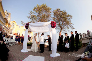 Wedding ceremony at Saybrook Point Inn & Spa.