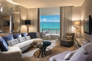 Guest room at The St. Regis Bal Harbour Resort.