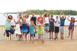 Kid's group at Ruttger's Bay Lake Lodge.