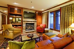 Rental living room at Frias Properties of Aspen.