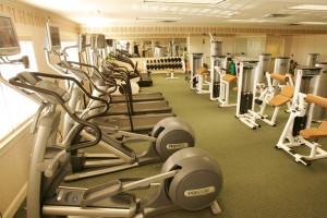Fitness center at Saybrook Point Inn.
