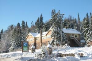 Exterior view of Cascade Lodge.