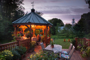 Yard view at The Inn at Weston.