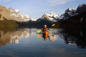 Lake at Mount Robson Inn.
