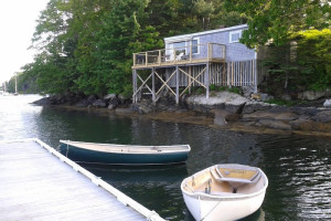 Rental exterior at Harborfields Waterfront Vacation Cottages.