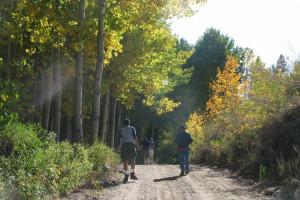 Hiking at Reverse Creek Lodge.