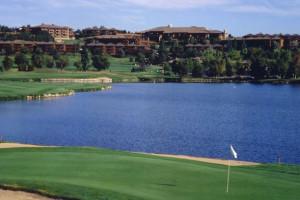 18-hole Pete Dye designed golf course at Cheyenne Mountain Resort.