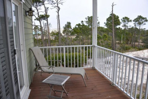 Rental deck at Sunset Properties.