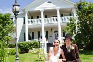 Bride & groom at Harbour View Inn.