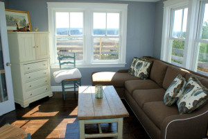 Cottage living room at Beach Realty.