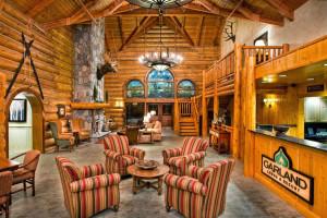 Lobby view at Garland Lodge & Resort.