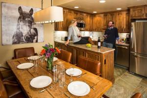 Rental kitchen at Vail Rentals by Owner.