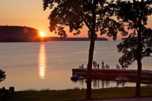 Sunset at Edgewater Resort.