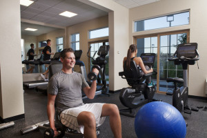 Fitness room at Blue Harbor Resort and Spa.