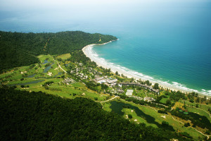 Aerial view of Nexus Golf Resort Karambunai.