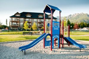 Park view at Bighorn Meadows Resort.