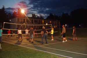 Volleyball court at Baumann's Brookside Summer Resort.