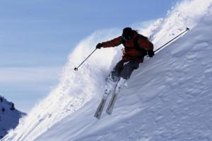 Skiing at Windwood Fly-In Resort.