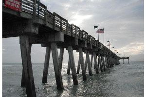 Fishing pier at The Inn at Venice Beach.