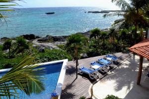 Outdoor pool at Casa Del Mar.
