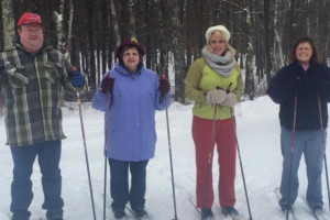 Cross country skiing at Boyd Lodge.